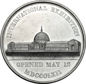 reverse: Great Britain. Medal for the International Exhibition, 1862