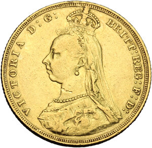 obverse: Great Britain.  Victoria (1837-1901). Sovereign 1887