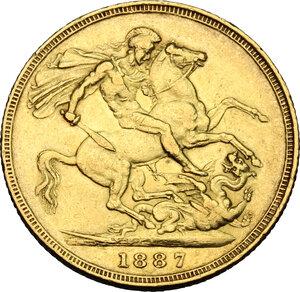 reverse: Great Britain.  Victoria (1837-1901). Sovereign 1887