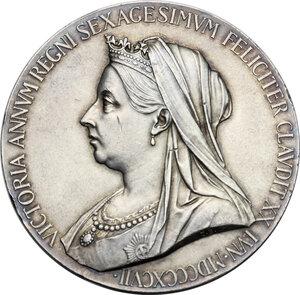 obverse: Great Britain.  Victoria (1837-1901).. AR Medal. Diamond Jubilee, 1897