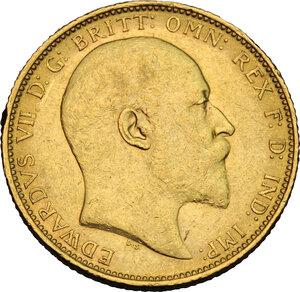 obverse: Great Britain.  Edward VII (1901-1910). Sovereign 1905
