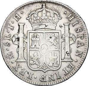 reverse: Mexico.  Charles IV (1788-1808).. Chopmarked 8 Reales 1806 TH, Mexico City