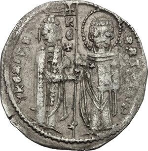 obverse: Serbia.  Stefan Urosh II Miluzin (1282-1321). . Grosh imitating the Venetian matapan
