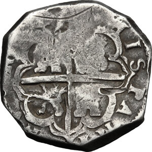 reverse: Spain.  Philip IV (1621-1665). 4 reales 16(??), Granada mint