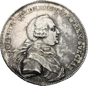 obverse: Sweden.  Adolf Frederick (1710-1771), King of Sweden.. Medal for the death, 1771