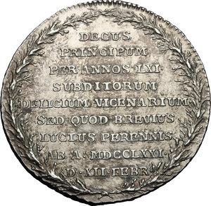 reverse: Sweden.  Adolf Frederick (1710-1771), King of Sweden.. Medal for the death, 1771