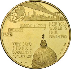 reverse: USA.  New York World s Fair 1964-1965.. AV Medal