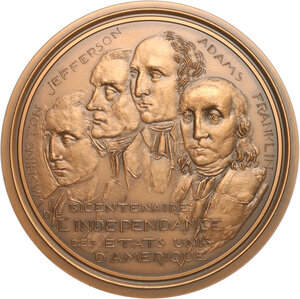 obverse: USA. French medal 1975 for the bicentenary of United States Declaration of Independence