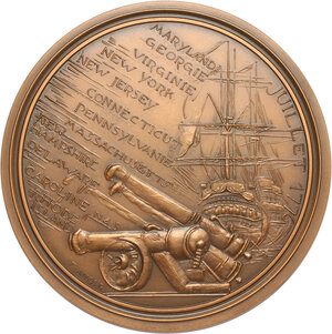 reverse: USA. French medal 1975 for the bicentenary of United States Declaration of Independence
