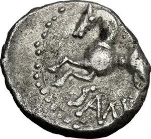 reverse: Central Gaul, Sequani.  Q. Doci Sam. F.. AR Quinarius, c. 100-50 BC