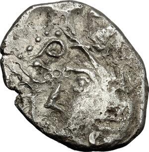obverse: Central Gaul, Sequani.  Q. Doci Sam. F.. AR Quinarius, c. 100-50 BC