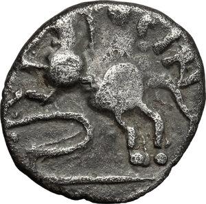 reverse: Central Gaul, Sequani.  Togirix. AR Quinarius, c. 100-50 BC