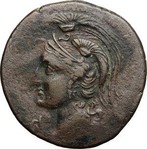 obverse: Punic Iberia. AE Unit , c. 237-209 BC
