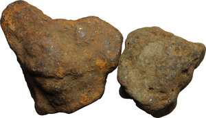 obverse: Aes Premonetale.. Aes Rude. Lot of two (2) bronze lumps. Central Italy, 8th-4th century BC