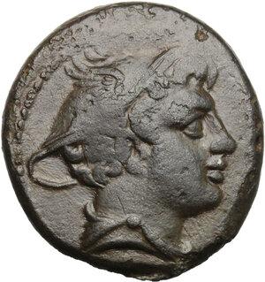 obverse: Post semilibral series.. AE Semuncia, c. 215-212 BC