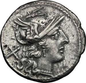 obverse: Anonymous. Fourrée Denarius, after 211 BC