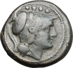 obverse: Sextantal series.. AE Triens, after 211 BC