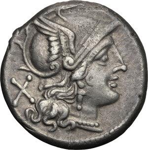 obverse: Crescent (first) series.. AR Denarius, 207 BC