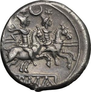 reverse: Crescent (first) series.. AR Denarius, 207 BC