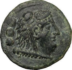 obverse: AE Quadrans, Luceria mint, c. 211-208