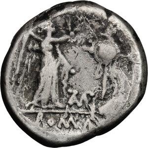 reverse: Cn. Baebius Tamphilus. AR Victoriatus, c. 194-190 BC