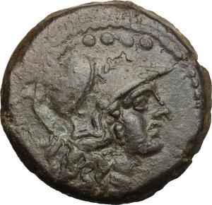 obverse: A. Caecilius.. AE Triens, c. 169-158 BC