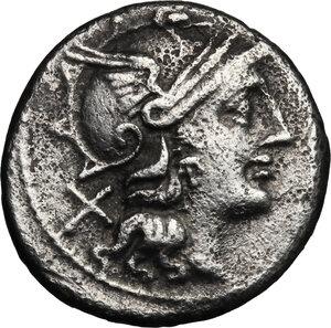 obverse: Pinarius Natta.. AR Denarius, 155 BC