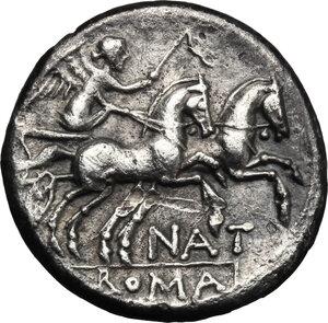 reverse: Pinarius Natta.. AR Denarius, 155 BC