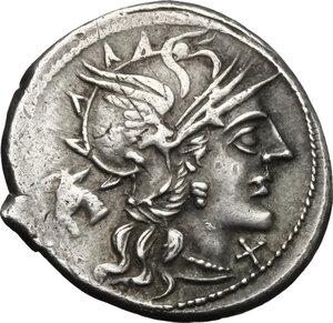 obverse: M. Iunius Silanus.. AR Denarius, 145 BC