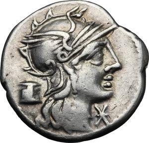 obverse: M. Marcius Mn. f. . AR Denarius, 134 BC