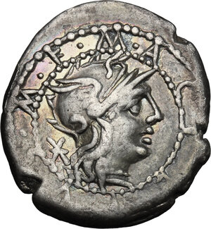 obverse: M. Acilius M.f.. AR Denarius, 130 BC