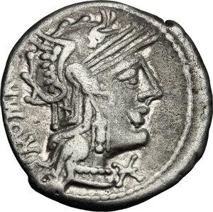 obverse: M. Caecilius Q. f. Q. n. Metellus.. AR Denarius, 127 BC