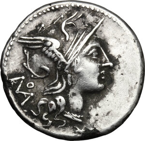 obverse: T. Didius.. Fourrée Denarius, 113-112 BC