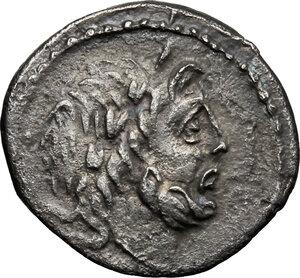 obverse: P. Vettius Sabinus.. AR Quinarius, 99 BC