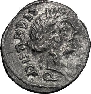 obverse: C. Egnatuleius C.f.. AR Quinarius, 97 BC