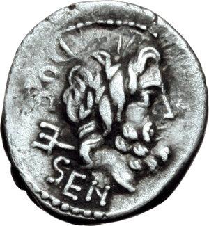 obverse: L. Rubrius Dossenus.. AR Quinarius, circa 87 BC