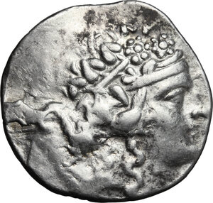 obverse: Celts in Eastern Europe. AR Tetradrachm, imitation of Thasos, after 148 BC
