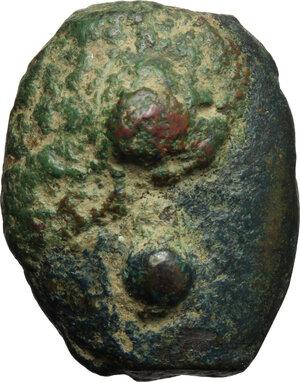 reverse: Uncertain Umbria or Etruria. AE Cast Sextans, 3rd century BC
