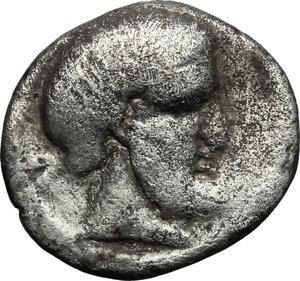 obverse: Etruria, Populonia. AR 5-Asses, 3rd century BC