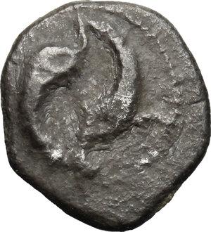 obverse: Etruria, Populonia. AR Obol (?), 3rd century BC