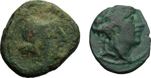 obverse: Central and Southern Campania, Capua (?). Multiple lot of two (2) AE coins, 3rd century BC