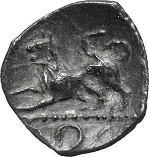 reverse: Central and Southern Campania, Phistelia. AR Obol, circa 325-275 BC