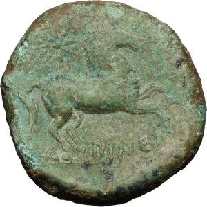 reverse: Eastern Italy, Larinum. AE 21 mm, 250-225 BC