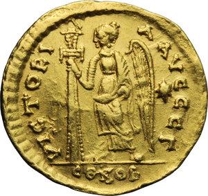 reverse: Anastasius I (491-518).. AV Solidus, Constantinople mint, c. 492-507 AD
