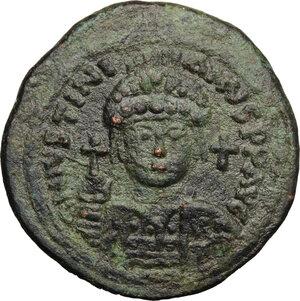 obverse: Justinian I (527-565).. AE Follis, Antioch/Theoupolis mint