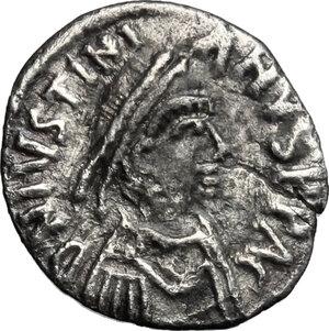 obverse: Justinian I (527-565).. AR Siliqua, Carthage mint