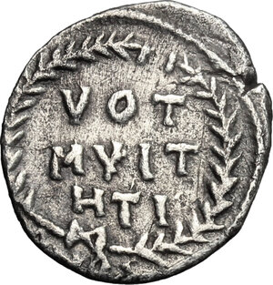 reverse: Justinian I (527-565).. AR Siliqua, Carthage mint