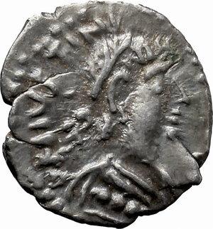 obverse: Justinian I (527-565).. AR Half Siliqua, Ravenna