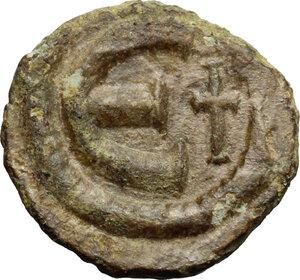 reverse: Justinian I (527-565).. AE Pentanummium, uncertain mint