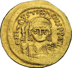 obverse: Justin II (565-578).. AV Solidus, Constantinople mint